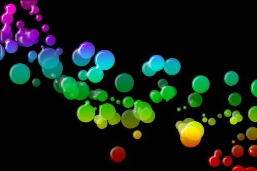 Обои пузыри яркие цвета абстракции